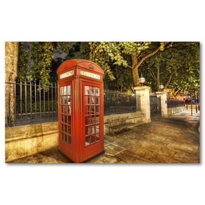 Αφίσα (τηλέφωνο, τηλεφωνικός θάλαμος, Λονδίνο, θέα, νύχτα, φώτα, δρόμος)